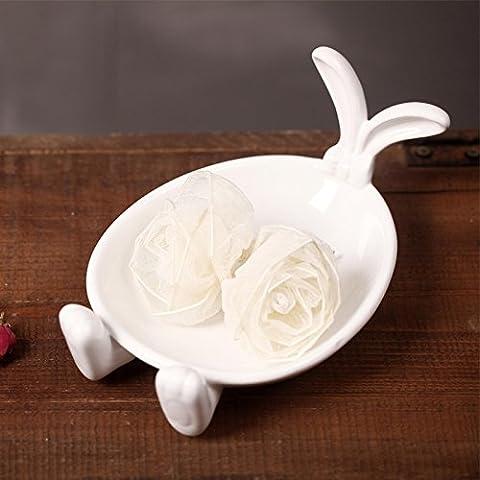 Fatte a mano in ceramica per usi domestici articoli coniglio ,20,7*13.3*9.5cm