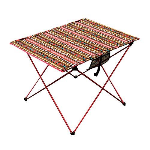 LIPAI Table Pliante Table De Pique-Nique Table De Pique-Nique Portable en Plein Air Portable en Plein Air Ultra-LéGèRe Auto-Conduite Voyage Table D'Oeuf Rouge 75 * 55 * 53cm