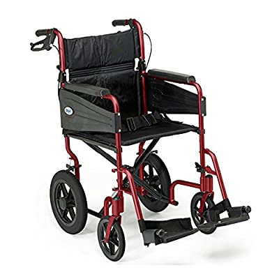 Days Escape Lite Aluminium Wheelchair, Lightweight and Foldable Frame, Attendant-Propelled Wheelchair
