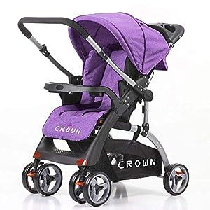 Crown ST530 Buggy Stroller Dual-Way Purple   8