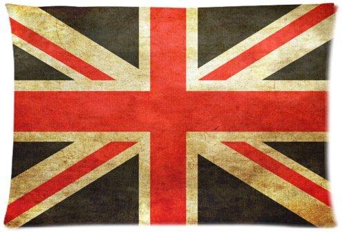 Dekorative Quadratisch Überwurf Kissenbezug Kissen Fall, Headcover/British Union Jack UK Flagge Print 30von 20Kissen Fall twin-sides (Flagge Headcover)