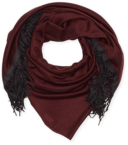 s.Oliver Damen Umschlagtuch mit Fransen, Gr. One size, Rot (dark burgundy 4933)
