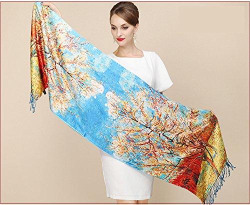 Zoom IMG-1 b joy sciarpa donna blau