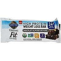 Garden of Life - Organic Fit alta proteína pérdida de peso barra chocolate almendra Brownie -