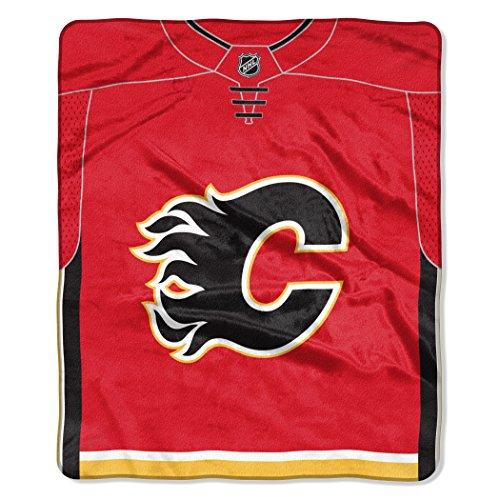 """NHL Unisex """"Jersey"""" Raschel Überwurf Decke, Unisex, """"Jersey"""" Raschel Throw Blanket, rot, Einheitsgröße"""