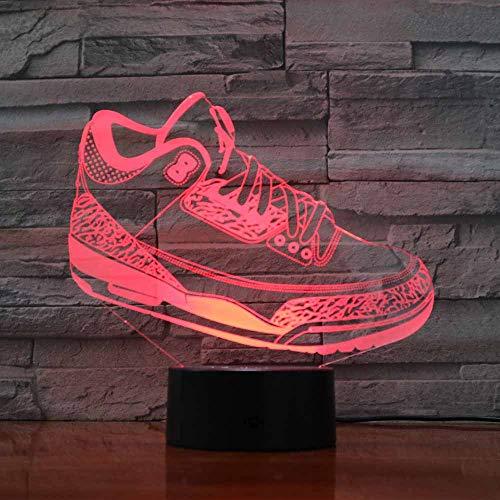 Scarpe da corsa creative Modellazione 3D Luci notturne a LED Pulsante a sfioramento Kids Sports Usb Lampada da tavolo colorata Camera da letto Home Lighting Decor