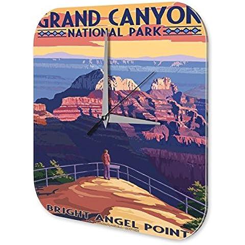 Reloj Pared Agencia Viajes Vacaciones Bright Angel Point Plexiglas