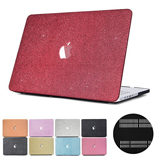 """MacBook Air 11Schutzhülle, papyhall Glitzer Bling Frosted Textur 2in 1MacBook Kunststoff Case mit Tastatur Cover Fro MacBook Air 27,9cm Modell: A1370/A1465 MS-Red Retina 13"""" A1425/A1502"""