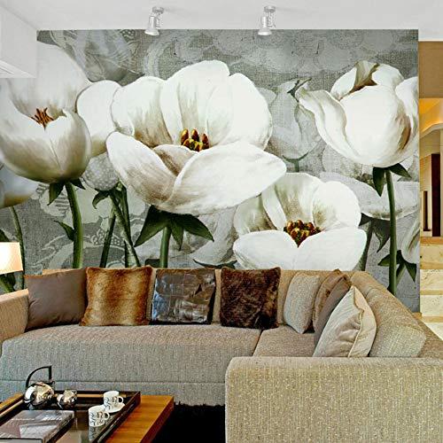 WEMUR Top 8d Kristall Seidentapeten 3d Wandbild Tapeten für Wohnzimmer Wand Papiere Home Decor Decke natürliche florale Wandbilder Rollen Kunst, 350x245 cm (137.8 x 96.5 in) -