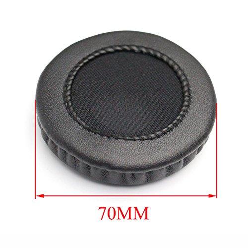 Shinecozy Premium Kopfhörer Eiweiß Leder Schaumstoff Ohr Polster, Headset Ohr Pads Ersatz Austausch Reparatur Teile(Für Universal Durchmesser 70MM) thumbnail