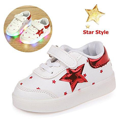 Zapatos De Ninos, Morbuy Unisex LED Patrón de Estrella Zapatos Niño Luces Suave y Cómodo Parpadea...