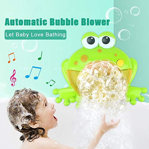 Cooljun Bubble Machine, Frosch Bubble Maker, Automatisiertes Auslauf Krabben Bad Bubble Spielzeuggeschenk mit 12 Kinderlied für Jungen, Mädchen