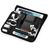 """Easyacc Tragbare Travel Cable Organizer Case Tasche with Handle for Electronics Zubehör H Bag/ Superior Protection Ultrabook Laptop Sleeve Bag Case for 8.9"""" 9.7"""" 10"""" 10.1"""" Inch Tablet, Such as Apple iPad air 2, iPad 2/3/4, Samsung Galaxy Tab 4 10.1, tab A 9.7 - Schwarz"""