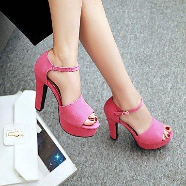 LvYuan Damen-Sandalen-Hochzeit Kleid Party & Festivität-Kunstleder-Blockabsatz-D'Orsay und Zweiteiler Club-Schuhe-Schwarz Grün Rosa Grau Pink