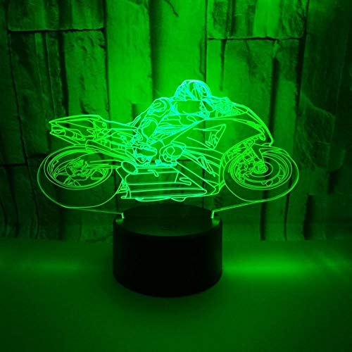 otorcycle Race With 7 Color Light Home Decoration Lamp Amazing Visualization Illusion USB Atmosphere Lamp ()
