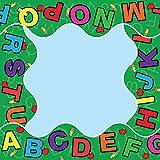 Sona Edons Decorative Borders for Bulletin Board, Black Board, Windows Multicolour-Alphabets Borders(Set of 6)