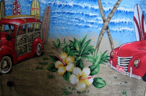 KY's| Chemise Hawaïenne D'Origine | Pour Hommes | S - 8XL | Manche Courte | Poche Avant | Hawaiian-Imprimer | Oldtimer | Surfboards | Bleu Bleu