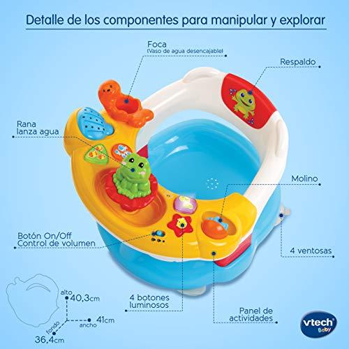 Imagen para Vtech Aquasilla 2 en 1, silla de baño y panel de actividades, juguete para jugar dentro y fuera del agua, multicolor (80-515422)