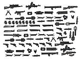 Magma Brick: Armi Ambientate Nella Seconda Guerra Mondiale per Personalizzare LEGO minifigure/LEGO MOC. 88 pz