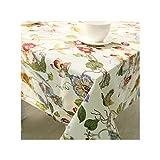 HGblossom Europa-Art-Tischdecke für Hochzeit Baumwolle rechteckig Küche Tischdecke Staubdichtes Restaurant Tischdecke, Baiseniao, über 140X250Cm