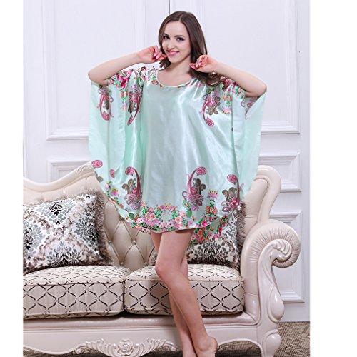 BOYANN Vestaglie e Kimono Manicotto di Batwing Pigiami e Camicie da Notte Donna Modello Fiore 5