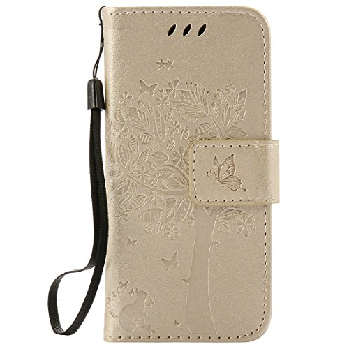 Nancen Compatible with Handyhülle iPod Touch 5/6 Flip Schutzhülle Zubehör Lederhülle mit Silikon Back Cover PU Leder Handytasche - Apple Ipod 64gb Mp3-player Touch