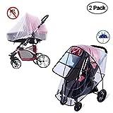Regenschutz für Kinderwagen, Windschutz und Moskitonetz, Universal Regenschutz...