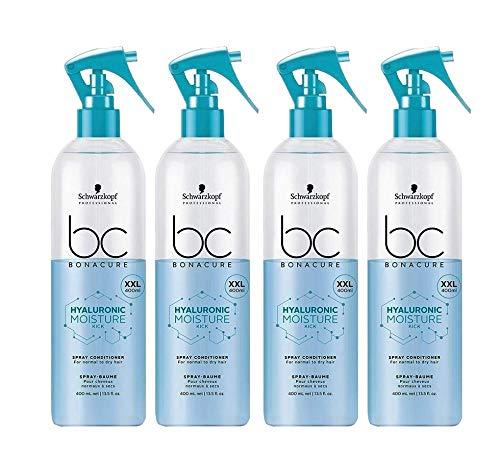 4x 400 ml Schwarzkopf Bonacure Hyaluronic Moisture Kick Spray Conditioner XXL -
