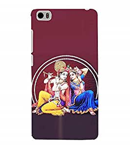 Nextgen Designer Mobile Skin for Xiaomi Mi 5 :: Redmi Mi5 (krishna radha dancing Bala gopal Krishna Hari Kamalnath Manmohan )