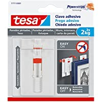 Clavo adhesivo ajustable tesa, ideal para cuadros, para paredes pintadas y yeso (2kg)