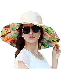 ITODA Béisbol Sombrero de sol playa mar Mujer Protección Solar anti-UV  gorra de doble 22f89b0fdd7