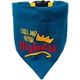 That Dog In Tuxedo Call Me Your Highness Bandana/Scarf with Adjustable Collar (Blue, X-Large)