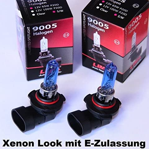 2 x LIMA HB3 Xenon Look 12V 65W Halogen Lampe super weiss (US 9005)