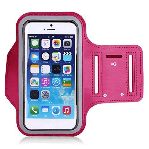 Theoutlettablet® Sportarmband aus Neopren für Running–Laufen–Für Transport Smartphone Oppo R5s Fuchsia (Oppo Mobile)