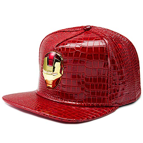 sdssup Berretto da Baseball in Ferro con Cappuccio Piatto Hip Hop di Marca Standard Marea Cappuccio Rosso in P