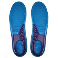 Yaheetech Massaging Silicon Gel insoles for Sore Feet Relief, Shock Absorption, Running/Hiking