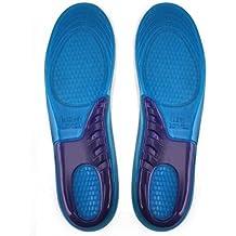 Suelas de gel de silicona chinkyboo para masajear para alivio de pies, absorción de golpes, senderismo, correr