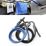 #4: Krupalu Adjustable Stretch Elastic Bungee Cords Hooks Lightweight Bikes Rope Tie Car Luggage Roof Rack Strap Hooks - 1pc