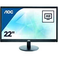 AOC E2270SWN Monitor PC Led 21.5 pollici, VGA, Nero
