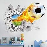 3D Wandtattoo Wohnzimmer Schlafzimmer Aufkleber Kinder Kinder Jungen Jugendliche Zimmer Wandmalereien Tapete Poster Wall Art fußball