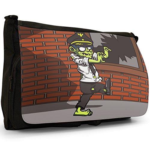 Zombie Plague morti viventi–Borsa Tracolla Tela Nera Grande Scuola/Borsa Per Laptop Pilot Zombie