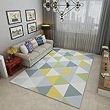 GRENSS Die nordischen Moderne Geometrische Teppich Wohnzimmer Sofa Kaffee Ein Paar Kurze Wollteppich Minimalistischen Schlafzimmer mit Etagenbetten und Decken, Y-06, Y-03