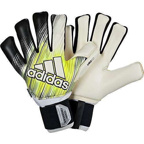 adidas Herren Classic Pro Fingersave Torwarthandschuhe, Black/Solar Yellow/White, 10.5