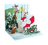 Pop Up 3D Weihnachten Karte PopShot Fuchs und die Tierwelt 13x13 cm