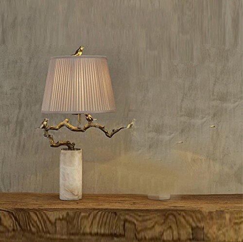 PinWei_ Lampade di rame classici marmo naturale,