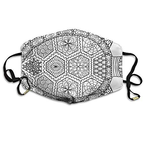 Daawqee Staubschutzmasken, Zen Turtle Printed Mask Neutral Mask Men Women Polyester Dust-Proof Breathable Mask