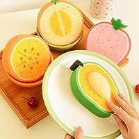 preadvisor (TM) colori da Random 5pcs nuovo frutta forma spugna per pulizia resistente Tavolo piatti cucina pulizia strumenti C20 - Frutta Air
