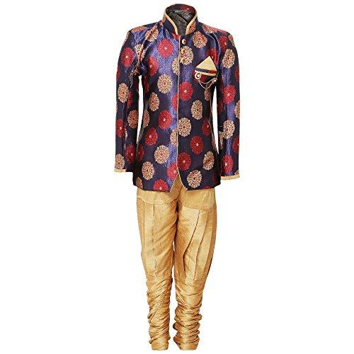 AJ Dezines Boys Indo Western Sherwani Suit for Kids (7001_PURPLE_2)