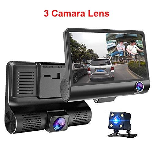 Pang Hu 4,0-Zoll-3-Wege-Auto DVR/Kamera Video Driving Recorder/Rückansicht Auto Registrator mit Zwei Kameras Dash Cam DVR/Dual Lens Carcorder/Nachtsicht - Dual Lens Hd Light