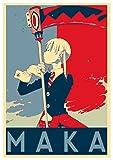 "Poster Soul Eater ""Propaganda"" Maka Albarn - Formato A3 (42x30 cm)"